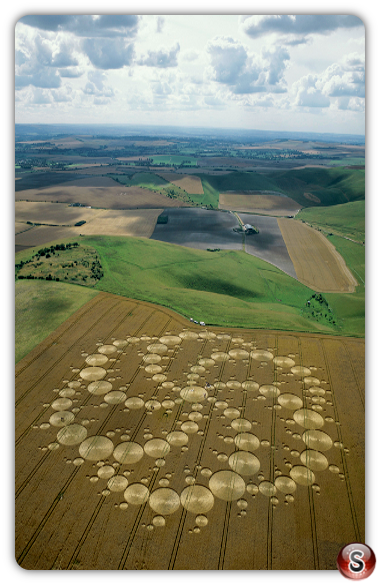 Crop circles - Milk Hill, Wiltshire, 2001