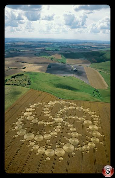 Crop circles - Milk Hill Wiltshire 2001