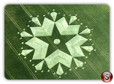 Crop circles - St Martin's Chapel, Nr Chisbury, Wiltshire 2010