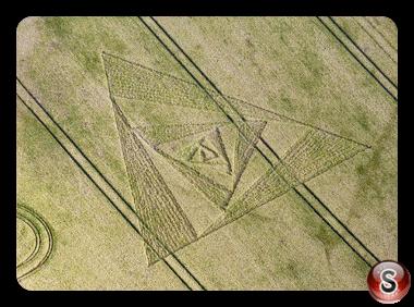 Crop circles - Chirton nr Devizes  Wiltshire 2011