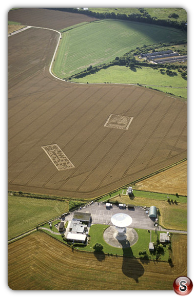 Crop circles - Chilbolton Radio Telescope, Hampshire 2001