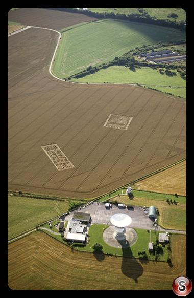 Crop circles - Chilbolton Radio Telescope Hampshire 2001