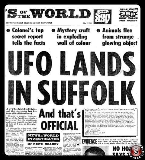 UFO lands in Suffolk