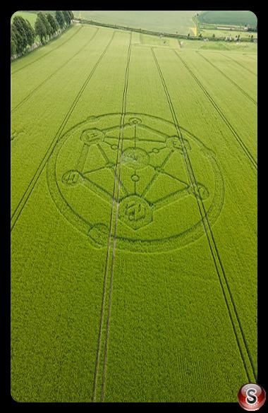 Crop circles - Broad Hinton, Wiltshire 2021