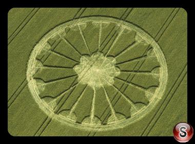 Crop circles - South Field Alton Priors Wiltshire 2000