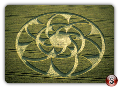 Crop circles - Barbury Castle, Wiltshire 2002