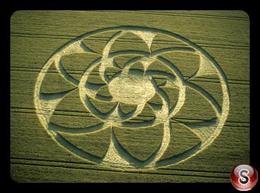 Crop circles - Barbury Castle Wiltshire 2002