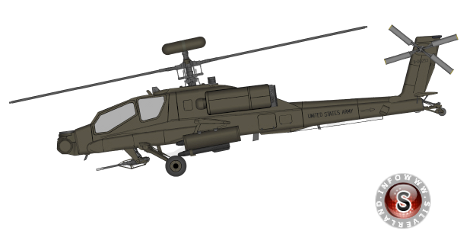 Helicopter Hughes AH-64A Apache
