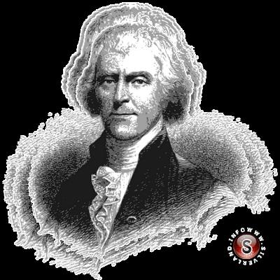 Thomas Jefferson (Shadwell, 13 Aprile 1743 – Charlottesville, 4 Luglio 1826)