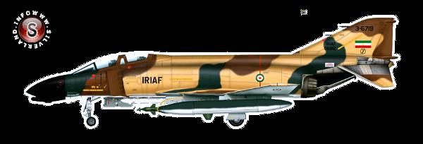 IRIAF F-4 D Phantoms II - rielaborazione grafica Silverland