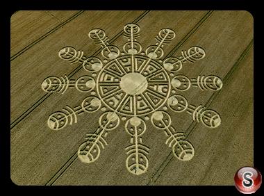 Crop circles - Smeathes Plantation Wiltshire 2009