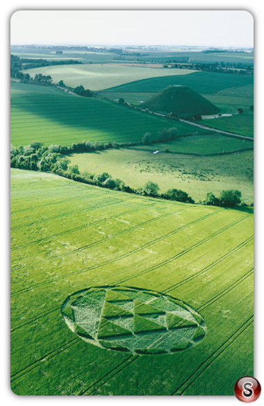 Crop circles - Silbury Hill, Avebury, Wiltshire 2000