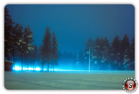 Scorci di paesaggi finlandesi illuminati