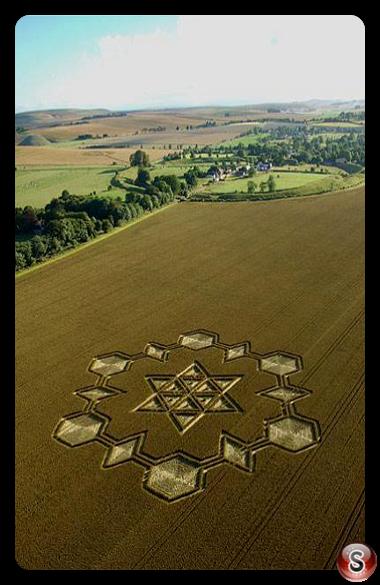 Crop circles - Avebury Henge Wiltshire 2005