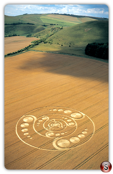 Crop circles - Golden Ball Hill, Wiltshire 2001