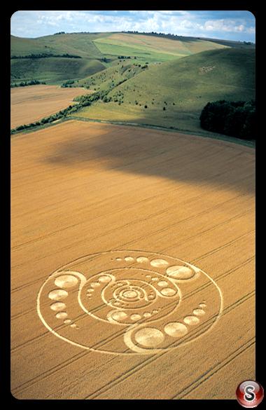 Crop circles - Golden Ball Hill Wiltshire 2001