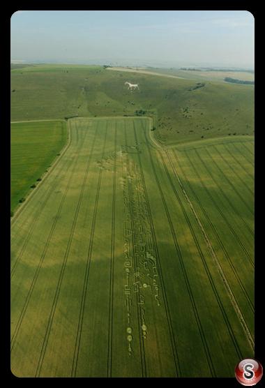 Crop circles - Alton Barnes White Horse, Wiltshire 2009