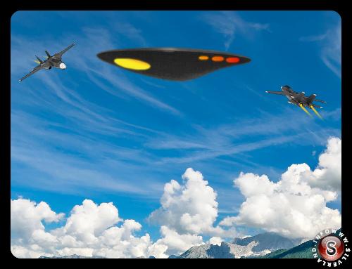 Duello aereo - UFO a Porto Rico 1988 ricostruzione Silverland