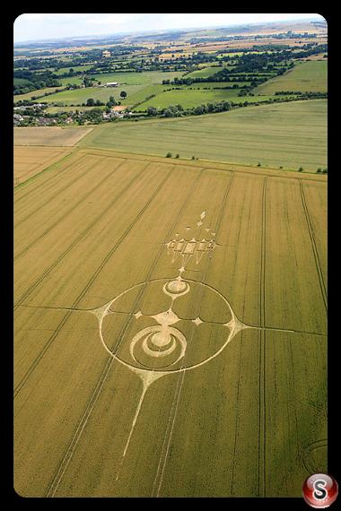 Crop circles - Stanton St Bernard, Wiltshire, UK. 2012