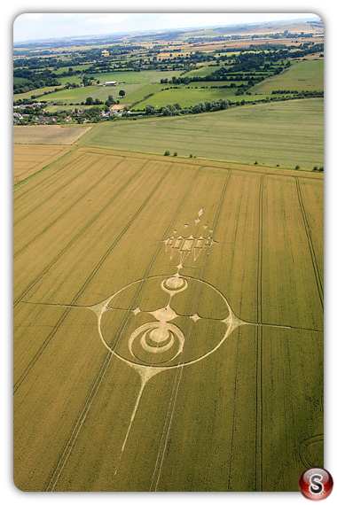 Crop circles - Stanton St Bernard Wiltshire UK 2012