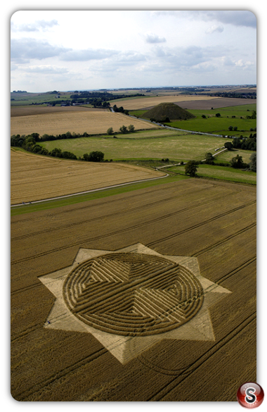 Crop circles - West Kennett, Avebury, Wiltshire 2004