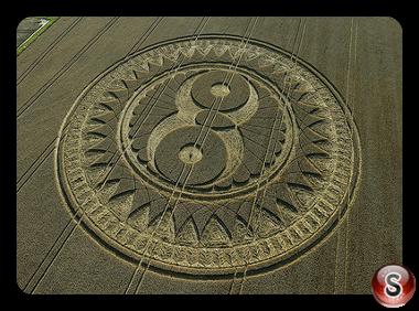 Crop circles - Woodborough Hill Wiltshire 2009