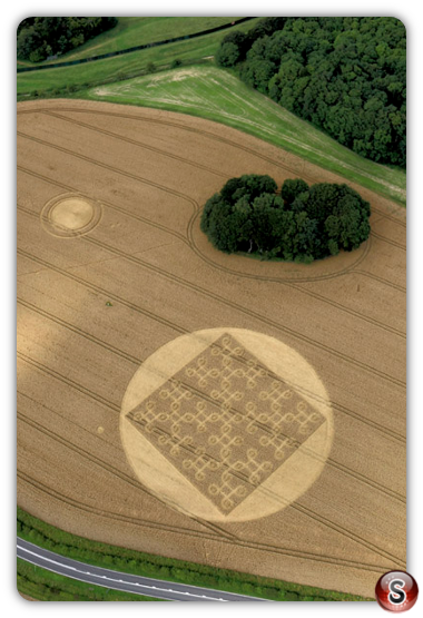 Crop circles - Cheesefoot Head nr Winchester, Hampshire 2012