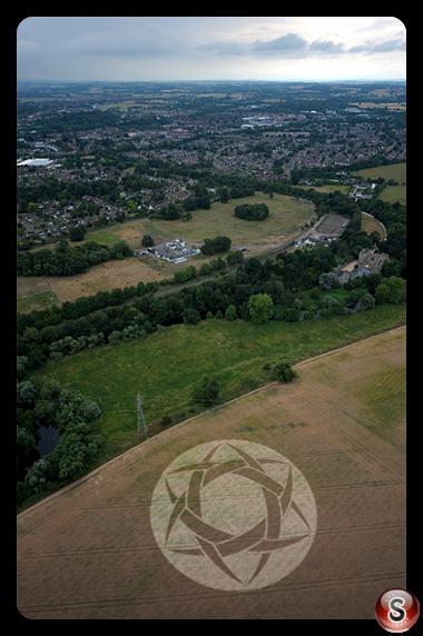 Crop circles - Guys Cliffe Warwickshire 2010