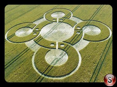 Crop circles - Battlesbury Hill Wiltshire 2017