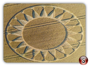 Crop circles - Cley Hill Wiltshire 2016
