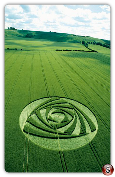 Crop circles - Berwick Bassett Wiltshire 2001