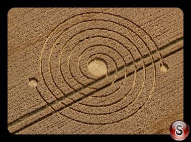 Crop circles - Silbury Hill Nr Avebury Wiltshire UK 2013
