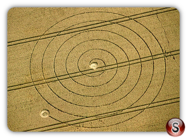 Crop circles - Martinsell Hill, Wiltshire, UK. 2012
