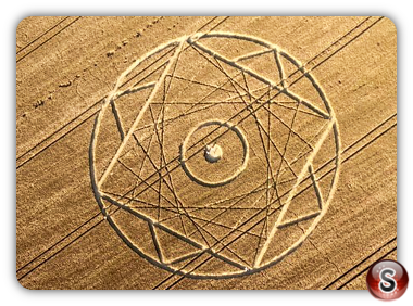 Crop circles - BIshops Canning Down, Wiltshire 2012