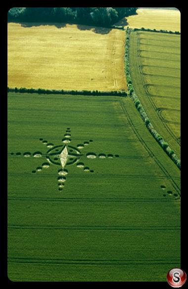 Crop circles - Englishcoombe nr bath, Avon 2002