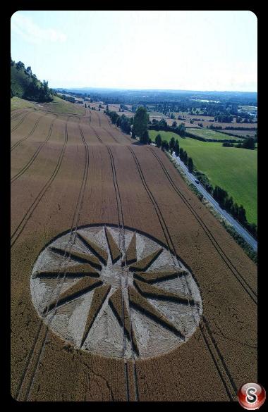 Crop circles - Westbury White Horse Wiltshire 2019