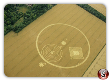 Crop circles - Great Shelford, Cambridgeshire 2001
