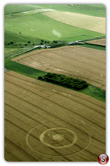 Crop circles - Milk Hill, Wiltshire, UK. 2012