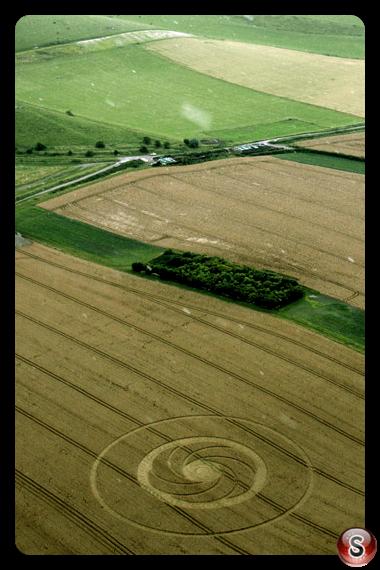 Crop circles - Milk Hill Wiltshire UK 2012