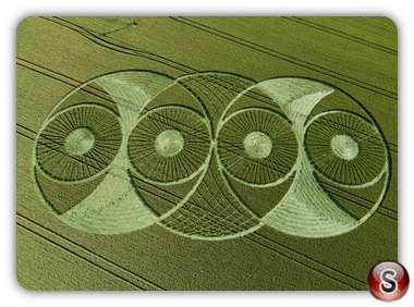 Crop circles - Hillside Farm, West Woods, Wiltshire 2008