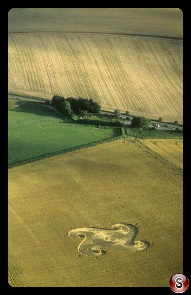 Crop circles - Silbury Hill Wiltshire 1998