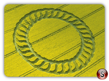 Crop circles - West Kennett, Longbarrow, Wiltshire 1998