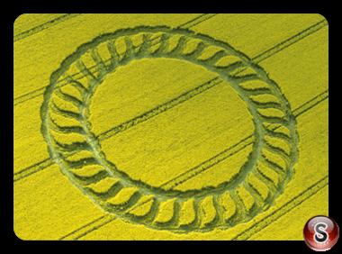 Crop circles - West Kennett Longbarrow Wiltshire 1998
