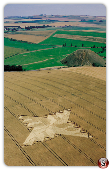 Crop circles - Silbury Hill, Wiltshire 1999