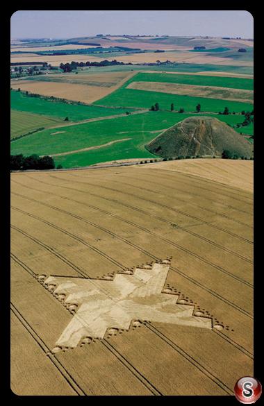 Crop circles - Silbury Hill Wiltshire 1999