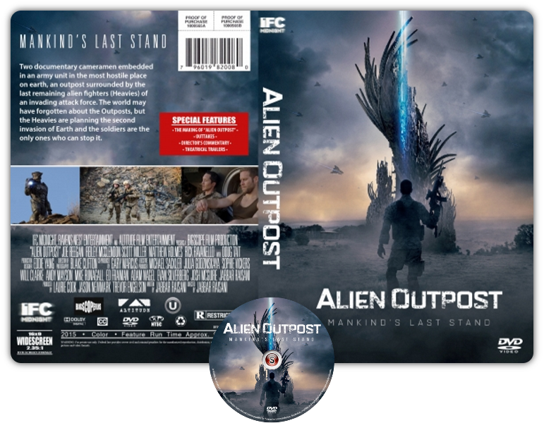 Alien outpost - Copertina DVD + CD