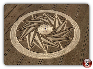 Crop circles - Woven, Swirling Star Germany 2012