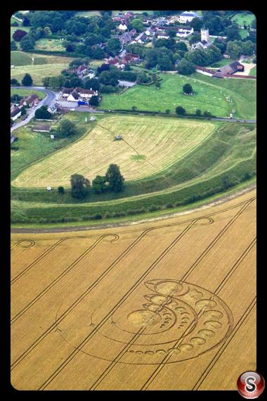 Crop circles - Avebury Stone Circle Wiltshire 2012