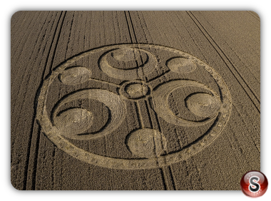 Crop circles - Stanton St Bernard Wiltshire 2019