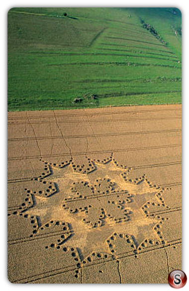Crop circles - Milk Hill, Wiltshire 1997